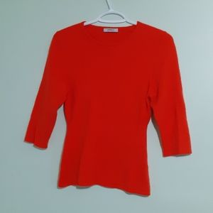Bright 💯%Mongolian Cashmere S/Sleeve Blouse